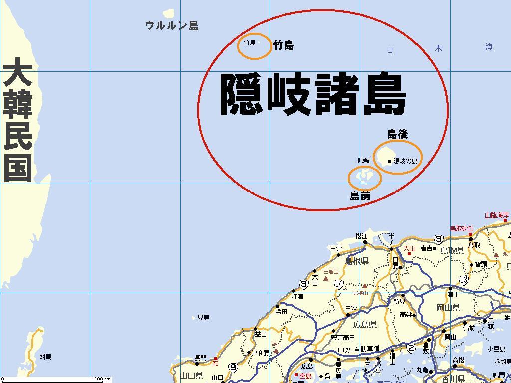 「隠岐諸島 地図」の画像検索結果