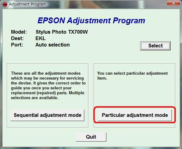 Download Epson TX700 and TX 720WD Resetter Tool